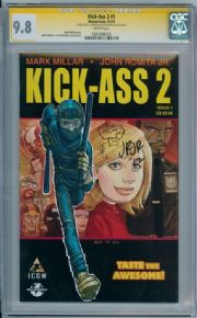 Kick-Ass 2 #1 First Print CGC 9.8 Signature Series Signed John Romita JR & Sketch Marvel comic